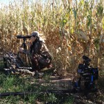 Filming West Texas Antelope Hunt during a spot and stalk