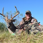 Great Acorn Buck taken with bow in Texas
